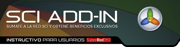 Add-In | Instructivo para usuarios Sabre Red 360