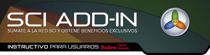 Add-In | Instructivo para usuarios Sabre Travel Network